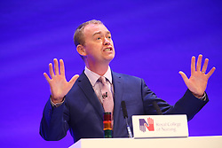 © Licensed to London News Pictures. 15/05/2017. Liverpool UK. Liberal Democrat leader Tim Farron makes a speech to the Royal College of Nursing annual conference in Liverpool today. Photo credit: Andrew McCaren/LNP