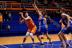 Mitja Nikolic of KK Helios Suns and Stefan Mijovic of KK Rogaska during basketball match between KK Helios Suns and KK Rogaska in ABA League Second division, on October 31, 2018 in Sports hall Domzale, Domzale, Slovenia. Photo by Urban Urbanc / Sportida