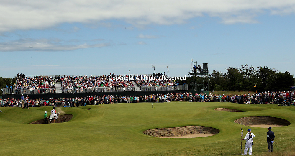 22.07.12 Lytham & St Annes, England. The 6th green during the fourth and final round of The Open Golf Championship from the Royal Lytham & St Annes course in Lancashire