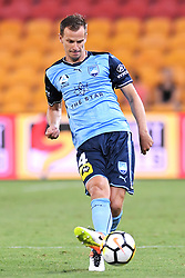 January 8, 2018 - Brisbane, QUEENSLAND, AUSTRALIA - Alexander Wilkinson of Sydney (4) passes the ball during the round fifteen Hyundai A-League match between the Brisbane Roar and Sydney FC at Suncorp Stadium on Monday, January 8, 2018 in Brisbane, Australia. (Credit Image: © Albert Perez via ZUMA Wire)