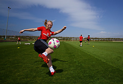 LARNACA, CYPRUS - Thursday, March 1, 2018: Wales' Elise Hughes during a training session in Larnaca on day three of the Cyprus Cup tournament. (Pic by David Rawcliffe/Propaganda)