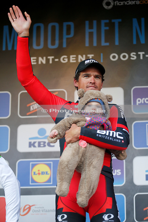 BELGIUM / GENT / GHENT / CYCLING / WIELRENNEN / CYCLISME / BELGIUM / KLASSIEKER / FLANDERS CLASSICS / GENT-GENT / 200,8 KM / OMLOOP HET NIEUWSBLAD / PODIUM / VAN AVERMAET GREG (BMC RACING TEAM) AND HIS DAUGHTER FLEUR /