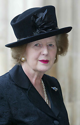 Lady Thatcher at a memorial service for Lord Jenkins at Westminster Abbey in London in 2003. ..Photo by: Stephen Lock / i-Images