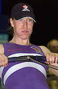 2004_British_Indoor_Rowing_Championships.NIA. Birmingham.England. 21.11.2004.WBUSA Hwt Debbie Flood Leander Club and Reading University. .[Mandatory Credit Peter Spurrier/ Intersport Images]