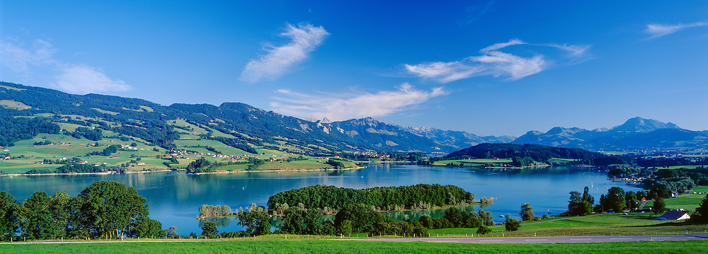 Gruyeres Lake and prealps, county of Fribourg, Switzerland