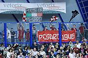 DESCRIZIONE : Venezia Lega A 2015-16 Umana Reyer Venezia - Consultinvest Pesaro<br /> GIOCATORE : Tifosi Consultinvest Pesaro<br /> CATEGORIA : Tifosi<br /> SQUADRA : Umana Reyer Venezia - Consultinvest Pesaro<br /> EVENTO : Campionato Lega A 2015-2016<br /> GARA : Umana Reyer Venezia - Consultinvest Pesaro<br /> DATA : 03/04/2016<br /> SPORT : Pallacanestro <br /> AUTORE : Agenzia Ciamillo-Castoria/G. Contessa<br /> Galleria : Lega Basket A 2015-2016 <br /> Fotonotizia : Venezia Lega A 2015-16 Umana Reyer Venezia - Consultinvest Pesaro