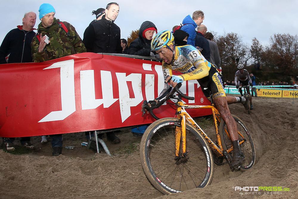 NETHERLANDS / NEDERLAND / PAYS BAS / GIETEN / CYCLING / WIELRENNEN / CYCLISME / CYCLOCROSS / VELDRIJDEN /  HANSGROHE SUPERPRESTIGE VELDRIJDEN / TOM MEEUSEN (TELENET-FIDEA) /