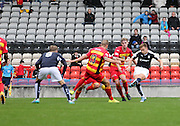 Greg Stewart scores Dundee's winner - Partick Thistle v Dundee, Ladbrokes Premiership at Firhill<br /> <br />  - &copy; David Young - www.davidyoungphoto.co.uk - email: davidyoungphoto@gmail.com