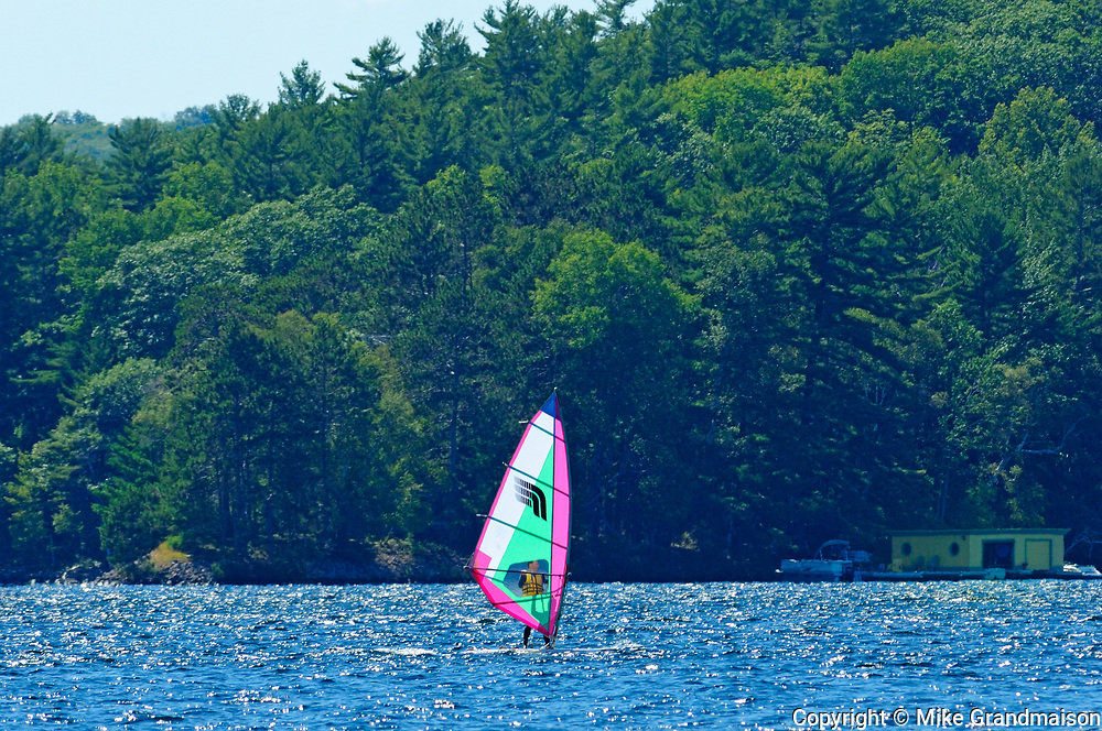 Windsurfing on Lake of Bays<br />Dorset<br />Ontario<br />Canada