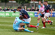 James Phillips in action during the Green King IPA Championship Play-Off match between London Scottish &amp; Worcester at Richmond, Greater London on Saturday 2nd May 2015<br /> <br /> Photo: Ken Sparks | UK Sports Pics Ltd<br /> London Scottish v Worcester, Green King IPA Championship, 2nd May 2015<br /> <br /> &copy; UK Sports Pics Ltd. FA Accredited. Football League Licence No:  FL14/15/P5700.Football Conference Licence No: PCONF 051/14 Tel +44(0)7968 045353. email ken@uksportspics.co.uk, 7 Leslie Park Road, East Croydon, Surrey CR0 6TN. Credit UK Sports Pics Ltd
