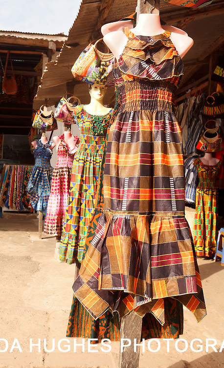 Dresses at an outdoor market in Accra Ghana