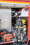 Fire fighter's equipment on a fire truck