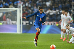 29.03.2016, Stade de France, St. Denis, FRA, Testspiel, Frankreich vs Russland, im Bild varane raphael // during the International Friendly Football Match between France and Russia at the Stade de France in St. Denis, France on 2016/03/29. EXPA Pictures © 2016, PhotoCredit: EXPA/ Pressesports/ Jerome Prevost<br /> <br /> *****ATTENTION - for AUT, SLO, CRO, SRB, BIH, MAZ, POL only*****