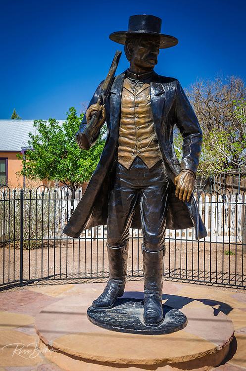 Wyatt Earp statue at the Wyatt Earp House, Tombstone, Arizona USA