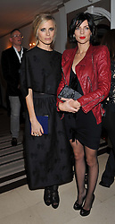 Left to right, LAURA BAILEY and LIBERTY ROSS at the Harper's Bazaar Women of the Year Awards 2011 held at Claridge's, Brook Street, London on 7th November 2011.