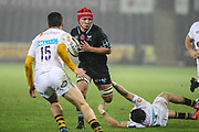 Will Jones of the Ospreys during the Anglo Welsh Cup match between Ospreys and Wasps at The Liberty Stadium, Swansea, Wales on 10 November 2017. Photo by Andrew Lewis.
