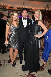 Left to right, ELEN RIVAS, GIORGIO VERONI and TAMARA BECKWITH at a birthday dinner for Claire Caudwell for family & friends held at The Dorchester, Park Lane, London on 24th January 2014.