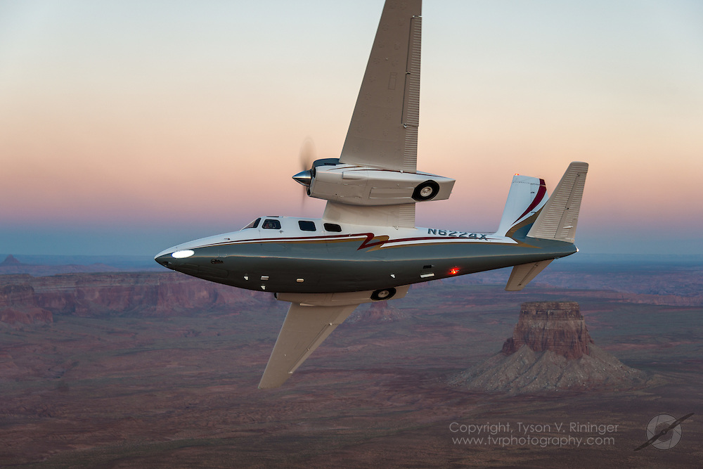 Shrike Commander flown by Erick Teeters and Brian Rikeman over Lake Powell, Arizona.