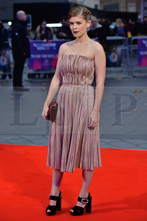 © Licensed to London News Pictures. 11/10/2017. London, UK. KATE MARA attends the European film premiere of Stars Don't Die In Liverpool showing as part of the 51st BFI London Film Festival. Photo credit: Ray Tang/LNP