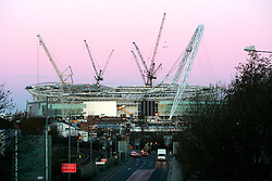 UK ENGLAND LONDON 28FEB06 - General view of Wembley National Stadium construction site at Wembley, west London. The Wembley stadium reconstruction project, undertaken by Australian contractor Multiplex is running behind schedule and over-budget. The British Football Association has decided to relocate the 2006 FA cup to Cardiff amid fears that the project will not be completed on time...jre/Photo by Jiri Rezac..© Jiri Rezac 2006..Contact: +44 (0) 7050 110 417.Mobile:  +44 (0) 7801 337 683.Office:  +44 (0) 20 8968 9635..Email:   jiri@jirirezac.com.Web:    www.jirirezac.com..© All images Jiri Rezac 2006 - All rights reserved.