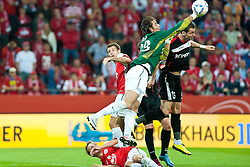 28.07.2011, Coface Arena, Mainz, GER, UEFA Europa League, Mainz 05 vs CS Gaz Metan Medias, im Bild Heinz Mueller (Mainz #33) faustet den Ball  // during the GER, UEFA Europa League, Mainz 05 vs CS Gaz Metan Medias on 2011/07/28, Coface Arena, Mainz, Germany. EXPA Pictures © 2011, PhotoCredit: EXPA/ nph/  Roth       ****** out of GER / CRO  / BEL ******