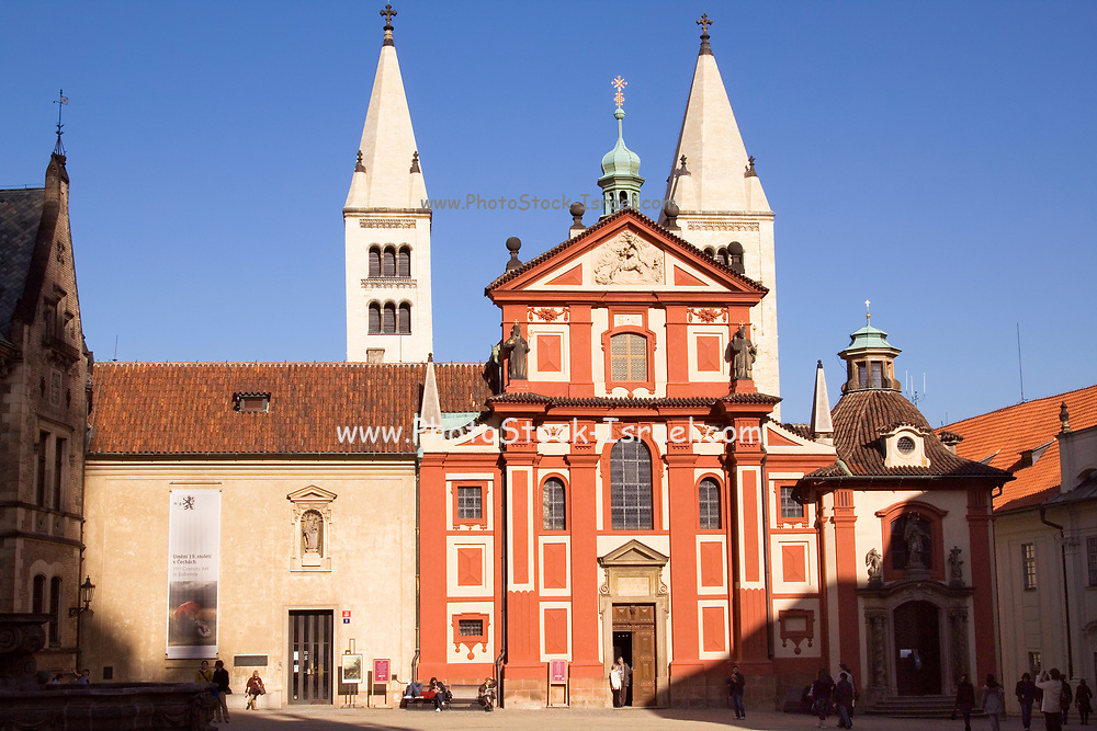 Saint George's Basilica within Prague Castle, Prague, Czech Republic