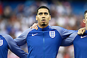 England Defender Chris Smalling during the Round of 16 Euro 2016 match between England and Iceland at Stade de Nice, Nice, France on 27 June 2016. Photo by Andy Walter.