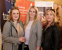 REPRO FREE:  Denise McDonagh Tulca<br /> Heather Higgins Ace pr &amp; media and Kate Howard Tulca in Hotel Meyrick for the announcement of the programme for the 2018 Galway International Arts Festival Programme 16-29 July which features an exciting Irish and international programme of theatre, opera, dance, circus, music, spectacle, visual art, and First Thought Talks featuring interviews and discussions on the theme of home, six world premieres, five Irish premieres and artists and theatre makers from across the world. Highlights include world premieres of Paul Muldoon&rsquo;s Incantata, new plays by Sonya Kelly and Cristin Kehoe (Druid) and a new theatre installation from Enda Walsh, visual arts / installations commissions from David Mach Rock &lsquo;n&rsquo; Roll and Olivier Grosset&ecirc;te The People Build. Photo:Andrew Downes, xposure.