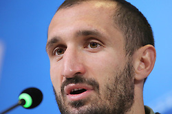 February 12, 2018 - Turin, Piedmont, Italy - Giorgio Chiellini (Juventus FC) during the Juventus FC press conference on the eve of the first leg of the Round 16 of the UEFA Champions League 2017/18 between Juventus FC and Tottenham Hotspur FC at Allianz Stadium on 12 February, 2018 in Turin, Italy. (Credit Image: © Massimiliano Ferraro/NurPhoto via ZUMA Press)