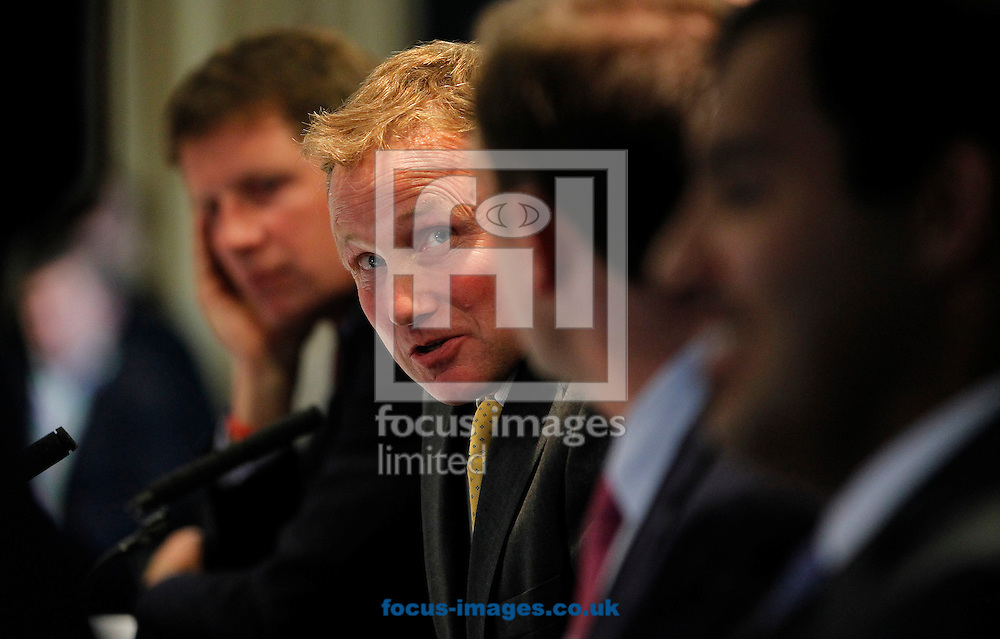 Michael Prosser on the panel for the Quipo Guineas Lunch at Newmarket Rowley, Newmarket<br /> Picture by John Hoy/Focus Images Ltd +44 7516660607<br /> 29/04/2014