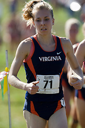 Virginia Cavaliers Diana Burk (71)..The Atlantic Coast Conference Cross Country Championships were held at Panorama Farms near Charlottesville, VA on October 27, 2007.  The men raced an 8 kilometer course while the women raced a 6k course.