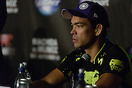 """MANCHESTER, ENGLAND, NOVEMBER 26, 2013: Lyoto Machida is pictured at the post-fight press conference for """"UFC Fight Night 30: Machida vs. Munoz"""" inside Phones4U Arena in Manchester, England (© Martin McNeil)"""