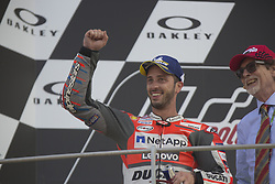 June 3, 2018 - Scarperia, Italy - Andrea Dovizioso of Ducati Team celebrate the second place of the MotoGP Oakley Grand Prix of Italy, at International Circuit of Mugello, on June 3, 2018 in Scarperia, Italy  (Credit Image: © Fabio Averna/NurPhoto via ZUMA Press)