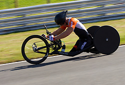 Jetze Plat of Netherlands competes during Men's Individual H 4 Time Trial during Day 8 of the Summer Paralympic Games London 2012 on September 5, 2012, in Brands Hatch circuit near London, Great Britain. (Photo by Vid Ponikvar / Sportida.com)