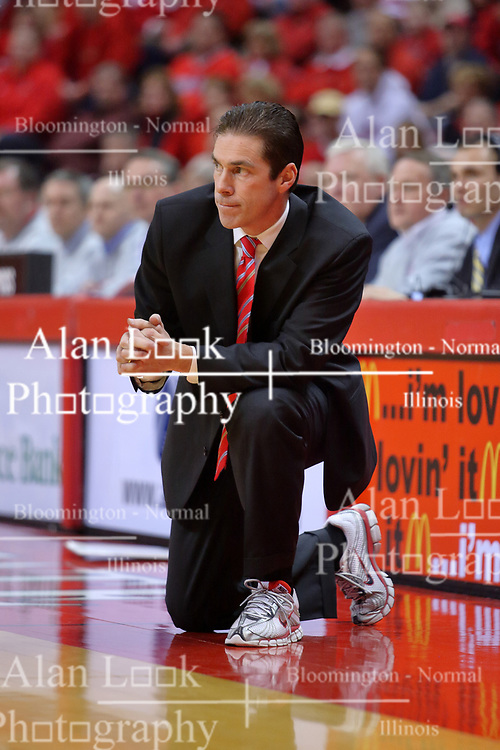 "31 January 2009: Redbird coach Tim Jankovich. The Illinois State University Redbirds join the Bradley Braves in a tie for 2nd place in ""The Valley"" with a 69-65 win on Doug Collins Court inside Redbird Arena on the campus of Illinois State University in Normal Illinois"