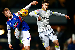James Bree of Ipswich Town & Tom Lawrence of Derby County - Mandatory by-line: Phil Chaplin/JMP - 13/02/2019 - FOOTBALL - Portman Road - Ipswich, England - Ipswich Town v Derby County - Sky Bet Championship