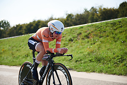 Megan Guarnier (USA) at Boels Ladies Tour 2018 - Stage 6, an 18.6km individual time trial in Roosendaal, Netherlands on September 2, 2018. Photo by Sean Robinson/velofocus.com