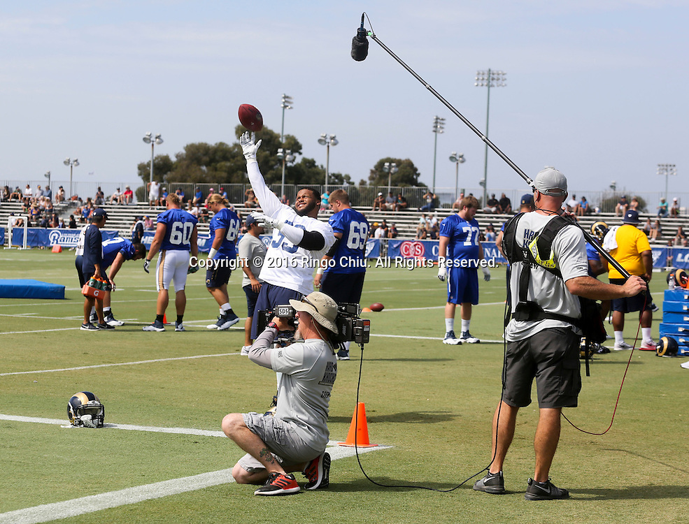 Hard Knocks production crew filming in Los Angeles Rams training session at UC Irvine campus.<br /> (Photo by Ringo Chiu/PHOTOFORMULA.com)<br /> <br /> Usage Notes: This content is intended for editorial use only. For other uses, additional clearances may be required.