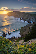 Sunset over the Point Reyes Headlands, Point Reyes National Seashore, Marin County, California