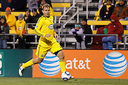 8 MAY 2010:  Chad Marshall of the Columbus Crew (14) during MLS soccer game between New England Revolution vs Columbus Crew at Crew Stadium in Columbus, Ohio on May 8, 2010.