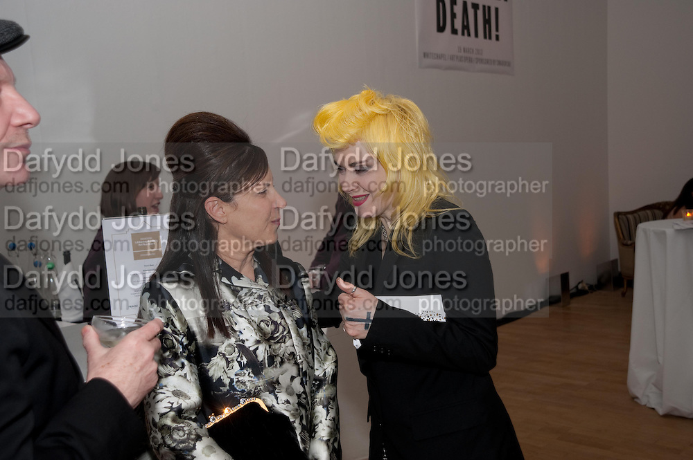 MAUREEN PALEY; PAM HOGG, Swarovski Whitechapel Gallery Art Plus Opera,  An evening of art and opera raising funds for the Whitechapel Education programme. Whitechapel Gallery. 77-82 Whitechapel High St. London E1 3BQ. 15 March 2012