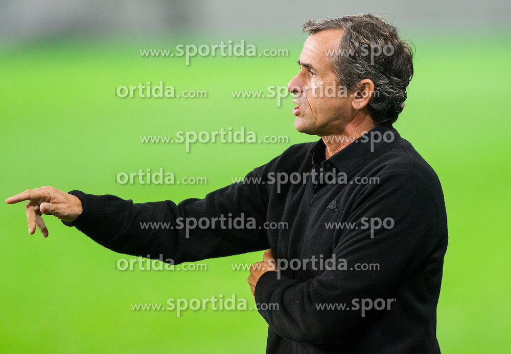 Zeljko Orehovec, head coach of Zavrc during football match between NK Olimpija and NK Zavrc in 8th Round of Prva liga Telekom Slovenije 2014/15, on September 13, 2014 in SRC Stozice, Ljubljana, Slovenia. Photo by Vid Ponikvar  / Sportida.com