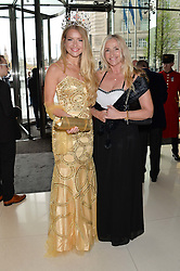 Miss England KIRSTY HESLEWOOD and her mother KERRY HESLEWOOD at the Soldiering On Awards held at the Park Plaza Hotel, Westminster Bridge, London on 5th April 2014.