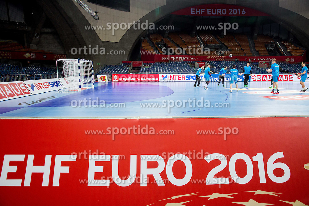Feature during practice session of Team Slovenia on Day 1 of Men's EHF EURO 2016, on January 15, 2016 in Centennial Hall, Wroclaw, Poland. Photo by Vid Ponikvar / Sportida