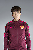 Portrait of Chinese soccer player Zhang Wei of Yanbian Funde F.C. for the 2017 Chinese Football Association Super League, in Namhae County, South Gyeongsang Province, South Korea, 11 February 2017.