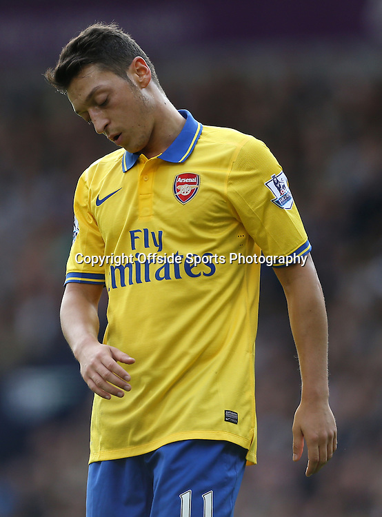 6th October 2013 - Barclays Premier League - West Bromwich Albion v Arsenal - Mesut Ozil of Arsenal looks dejected - Photo: Simon Stacpoole / Offside.
