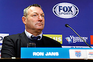 Onderwerp/Subject: PEC Zwolle - Eredivisie<br /> Reklame:  <br /> Club/Team/Country: <br /> Seizoen/Season: 2014/2015<br /> FOTO/PHOTO: Coach Ron JANS of PEC Zwolle during Press Conference. (Photo by PICS UNITED)<br /> <br /> Trefwoorden/Keywords: <br /> #07 #20 $64 ±1401974349562<br /> Photo- & Copyrights © PICS UNITED <br /> P.O. Box 7164 - 5605 BE  EINDHOVEN (THE NETHERLANDS) <br /> Phone +31 (0)40 296 28 00 <br /> Fax +31 (0) 40 248 47 43 <br /> http://www.pics-united.com <br /> e-mail : sales@pics-united.com (If you would like to raise any issues regarding any aspects of products / service of PICS UNITED) or <br /> e-mail : sales@pics-united.com   <br /> <br /> ATTENTIE: <br /> Publicatie ook bij aanbieding door derden is slechts toegestaan na verkregen toestemming van Pics United. <br /> VOLLEDIGE NAAMSVERMELDING IS VERPLICHT! (© PICS UNITED/Naam Fotograaf, zie veld 4 van de bestandsinfo 'credits') <br /> ATTENTION:  <br /> © Pics United. Reproduction/publication of this photo by any parties is only permitted after authorisation is sought and obtained from  PICS UNITED- THE NETHERLANDS