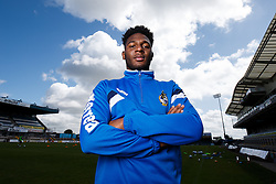 Ellis Harrison of Bristol Rovers poses during a media session before Sundays Vanamara Conference Play Off Final match against Grimsby Town at Wembley Stadium for promotion to the Football League 2 - Photo mandatory by-line: Rogan Thomson/JMP - 07966 386802 - 12/05/2015 - SPORT - FOOTBALL - Bristol, England - Memorial Stadium - Bristol Rovers Play Off Final Previews - Vanarama Conference Premier.