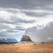 Hverarönd, is an expanse of hot springs, fumaroles, mud pools and mud pots