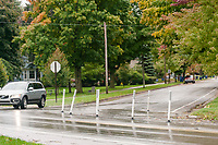 Traffic calming activities in Traverse City, Michigan on October 9, 2018 (Gary L Howe)